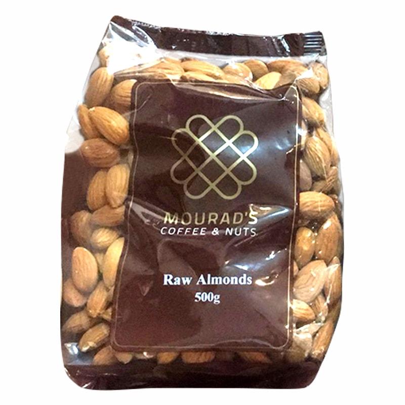 Hạt hạnh nhân Mourads Raw Almonds 500g mẫu mới của Úc
