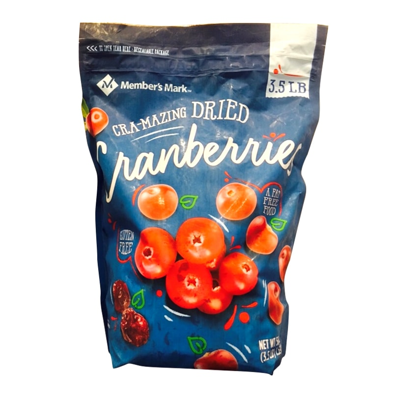 Nam việt quất sấy khô Members Mark Cranberries 1,59kg của Mỹ