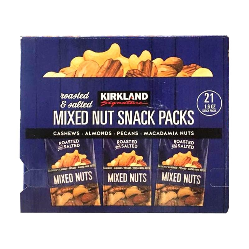 Hạt hỗn hợp rang muối Kirkland Mixed Nut Snack Packs 953g của Mỹ