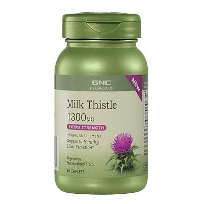 Viên uống bổ gan Milk Thistle 1300mg GNC 60 caplets của Mỹ