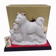 Chai rượu Sake hình con chó trắng Hachiko 720ml Nhật Bản