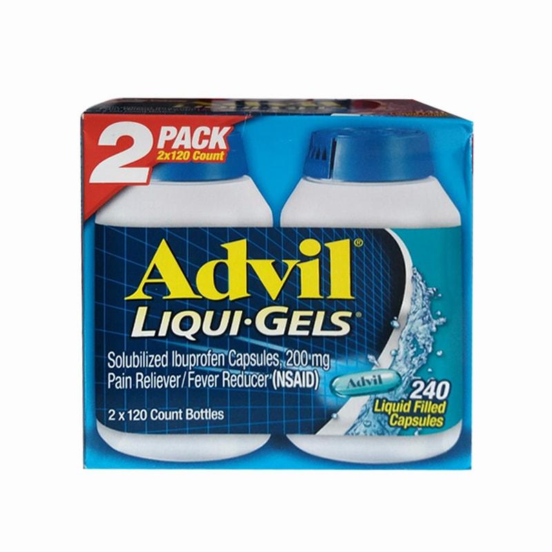 Thuốc uống giúp giảm đau hiệu quả Advil Liqui Gels 2 x 120 viên của Mỹ