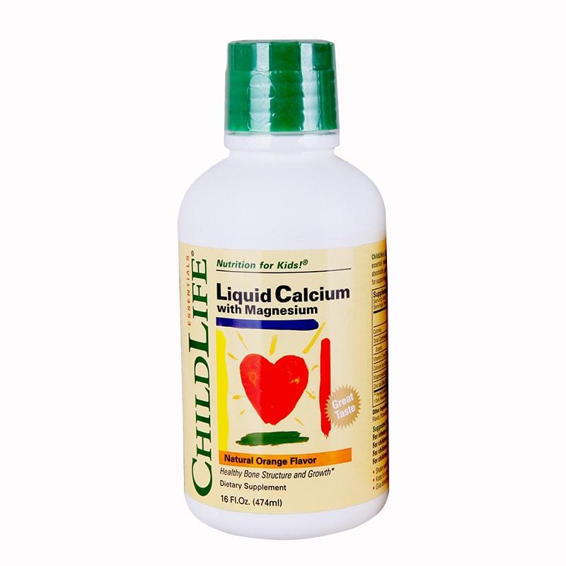 Vitamin ChildLife Bổ Sung Canxi Và Kẽm Cho Bé 474ml