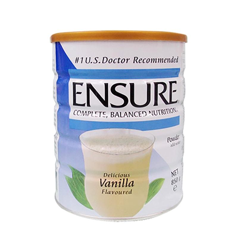 Sữa bột Ensure Complete Balanced Nutrition 850g hương vani