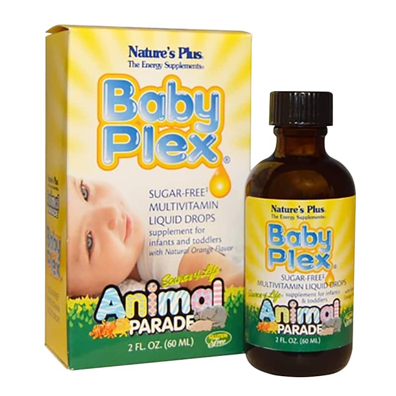 Vitamin cho bé Natures Plus Baby Plex Animal Parade 60ml của Mỹ