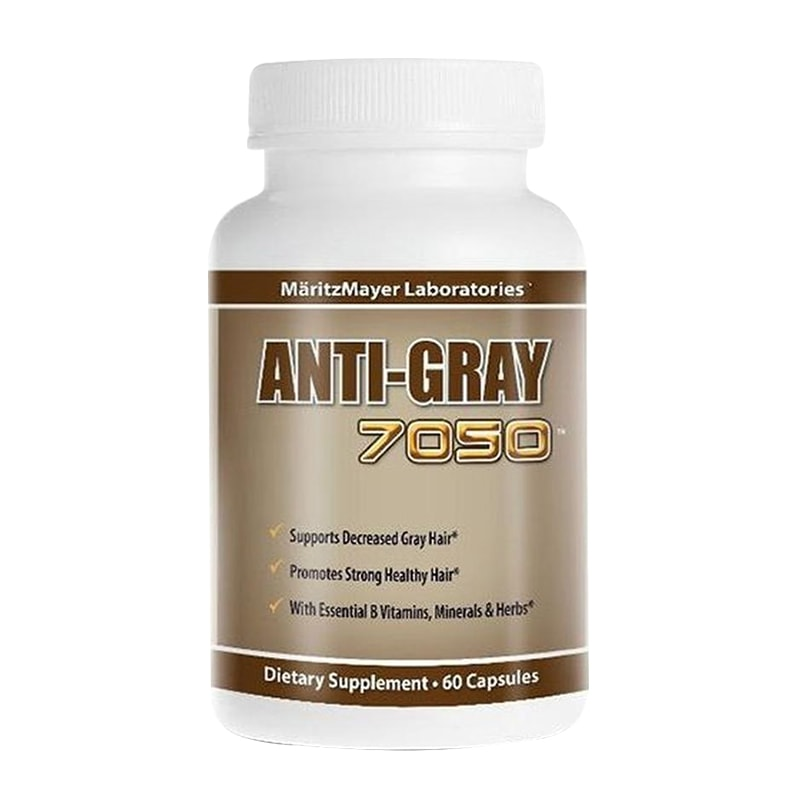 Viên uống trị tóc bạc sớm Super Anti Gray Hair 7050 hộp 60 viên Mỹ