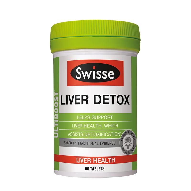 Viên uống bổ gan, thải độc Swisse Liver Detox 60 viên của Úc