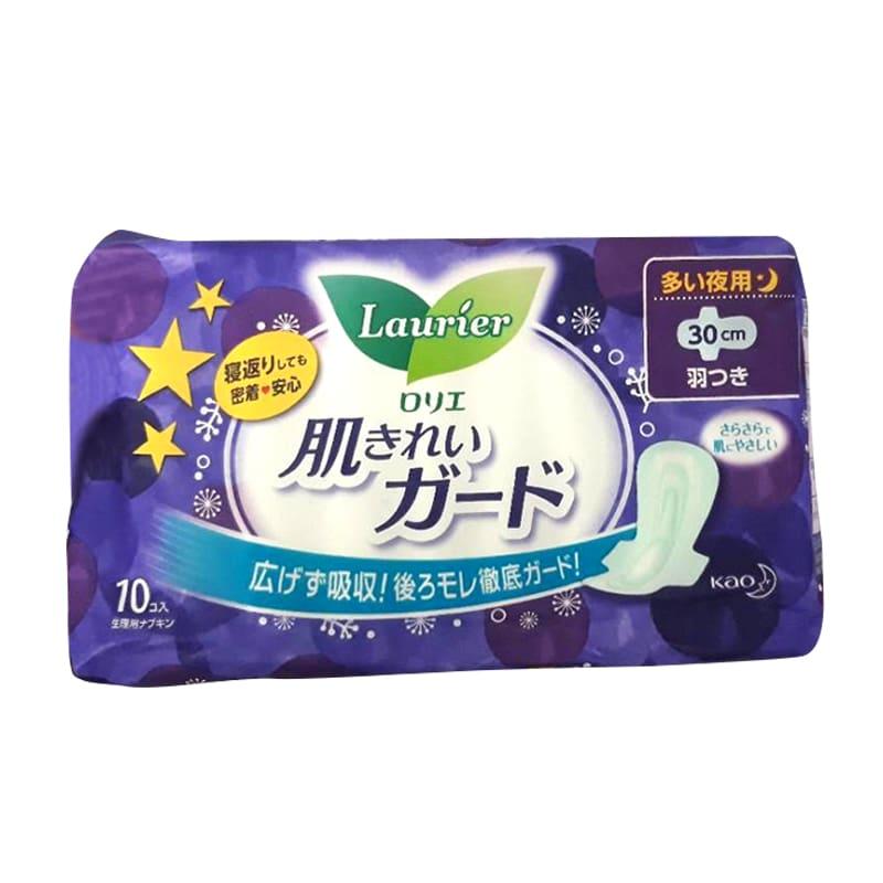 Băng vệ sinh ban đêm Laurier có cánh 30cm của Nhật Bản