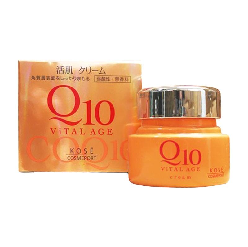Kem dưỡng da chống lão hóa Kose Q10 Vital Age của Nhật