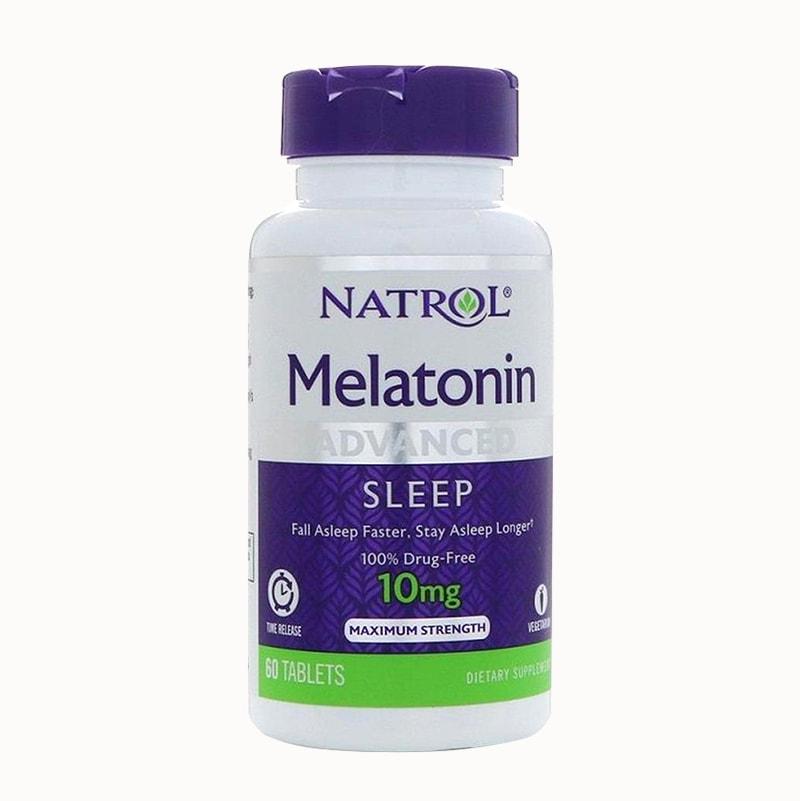 Natrol Melatonin 10mg của Mỹ 60 viên – Hỗ trợ điều trị bệnh mất ngủ