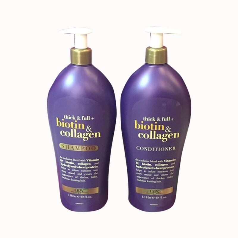 Bộ dầu gội xả Biotin & Collagen OGX 1,18 lít ngăn rụng tóc
