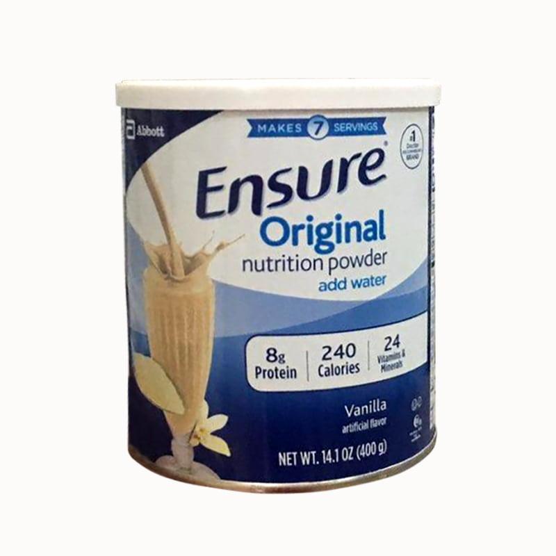 Sữa bột Ensure Original Nutrition Powder hộp 400g của Mỹ