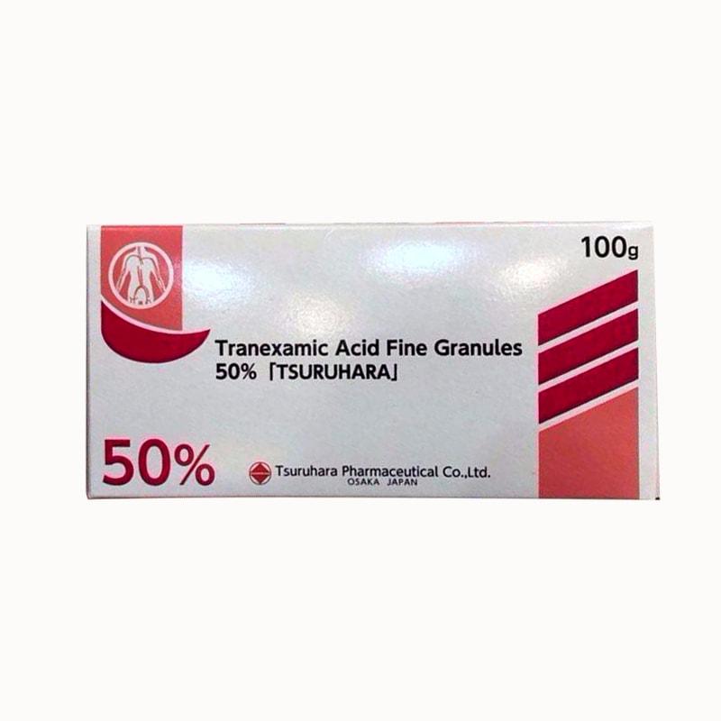 Bột trị nám trắng da Tranexamic Acid 50% Tsuruhara 100g