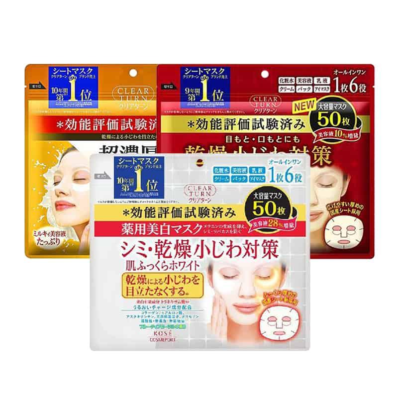 Mặt nạ Kose Clear Turn 50 miếng Nhật Bản - dưỡng da hoàn hảo