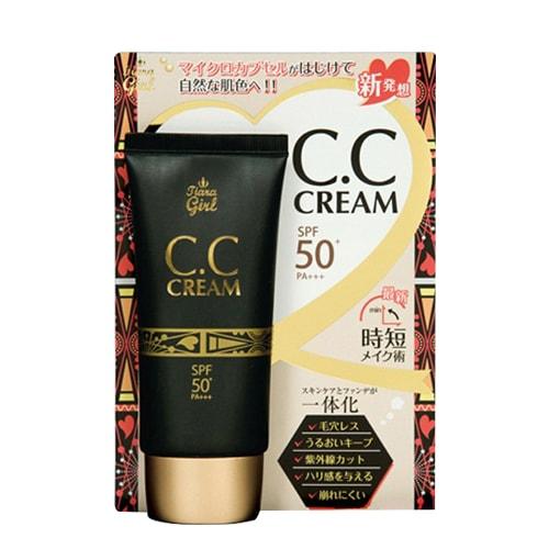 Kem trang điểm Tiara Girl CC Cream SPF50 Nhật Bản tuýp 50ml