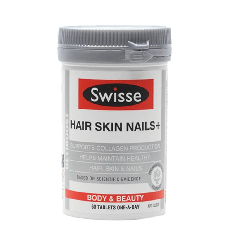Viên uống Swisse Hair Skin Nails 60 viên đẹp da móng tóc