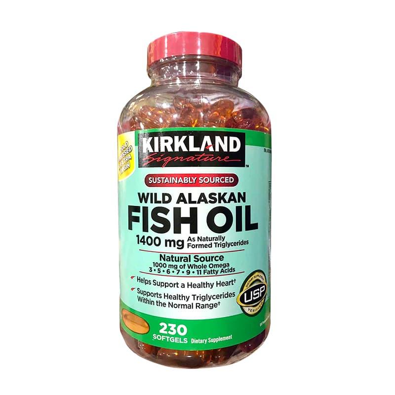 Dầu cá Kirkland Wild Alaskan Fish Oil 1400mg hộp 230 viên