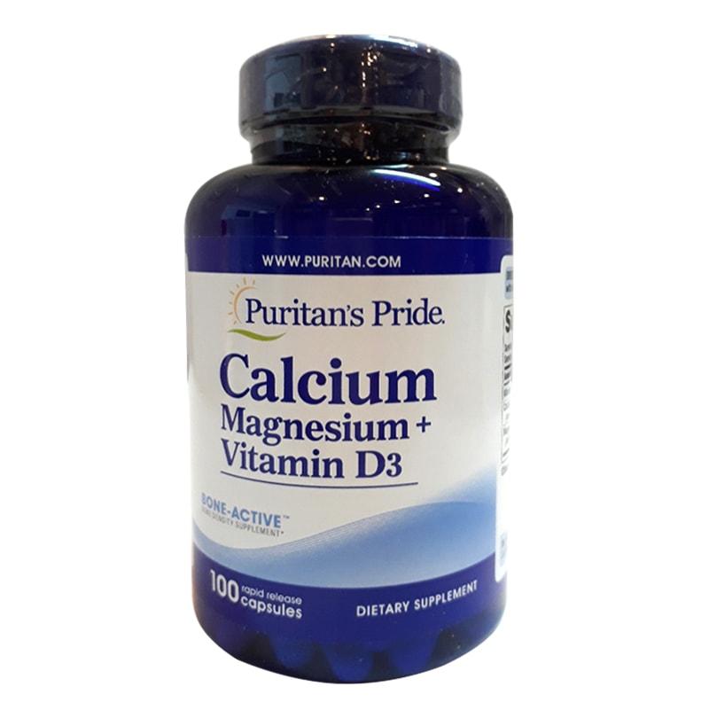Viên uống Calcium Magnesium Vitamin D3 Puritans Pride của Mỹ