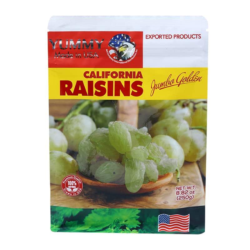 Nho khô vàng Yummy California Raisins Jumbo Gold 250g Mỹ