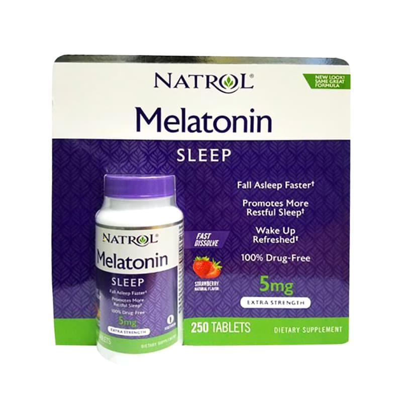 Viên ngậm Natrol Melatonin Sleep 5mg 250 viên giúp ngủ ngon