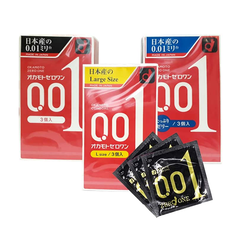 Okamoto 0.01 Zero One Condoms - Bao cao su mỏng nhất Thế giới