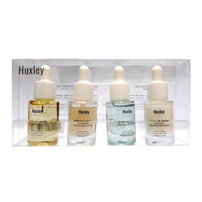 Set 4 tinh chất Huxley mini 5ml Hàn Quốc dưỡng trắng, phục hồi da