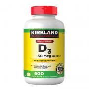 Viên uống Vitamin D3 Kirkland Extra Strength D3 50...