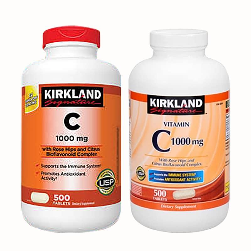 Viên Uống Bổ Sung Vitamin C 1000mg Kirkland 500 Viên của Mỹ