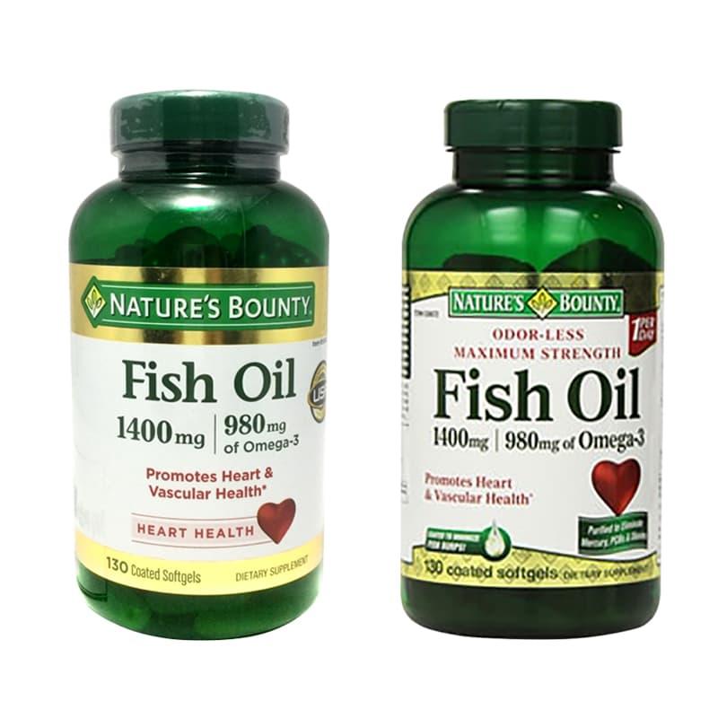 Dầu cá Natures Bounty Fish Oil 1400mg của Mỹ