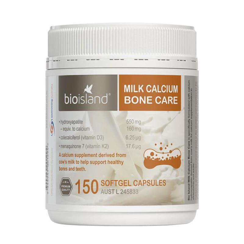 Viên sữa bổ sung canxi Bio Island Milk Calcium Bone Care 150 viên