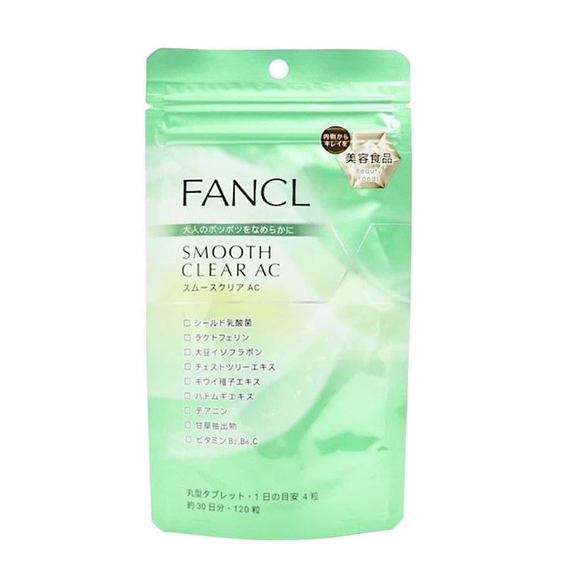 Viên uống Fancl Smooth Clear AC 120 viên - đẹp da, trị mụn