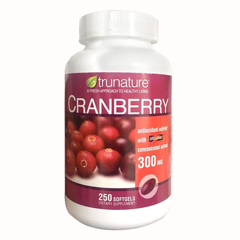 Viên uống nam việt quất Trunature Cranberry 300mg hộp 250 viên