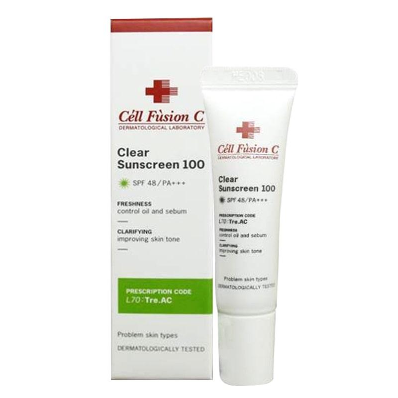 Kem chống nắng Cell Fusion C Clear Sunscreen 100 cho da mụn