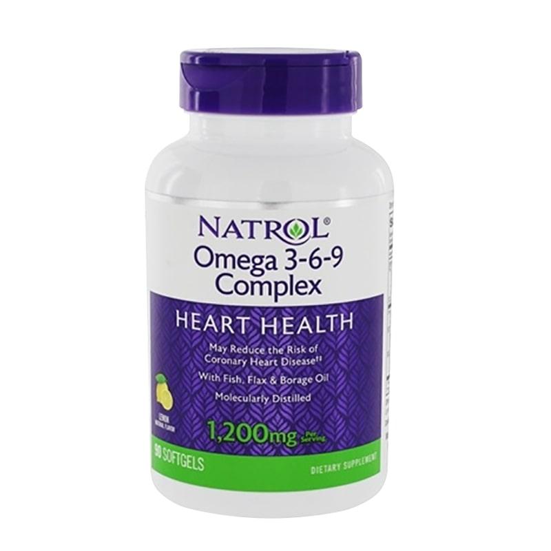 Viên uống Omega 3 6 9 Complex 1200mg Natrol 90 viên của Mỹ