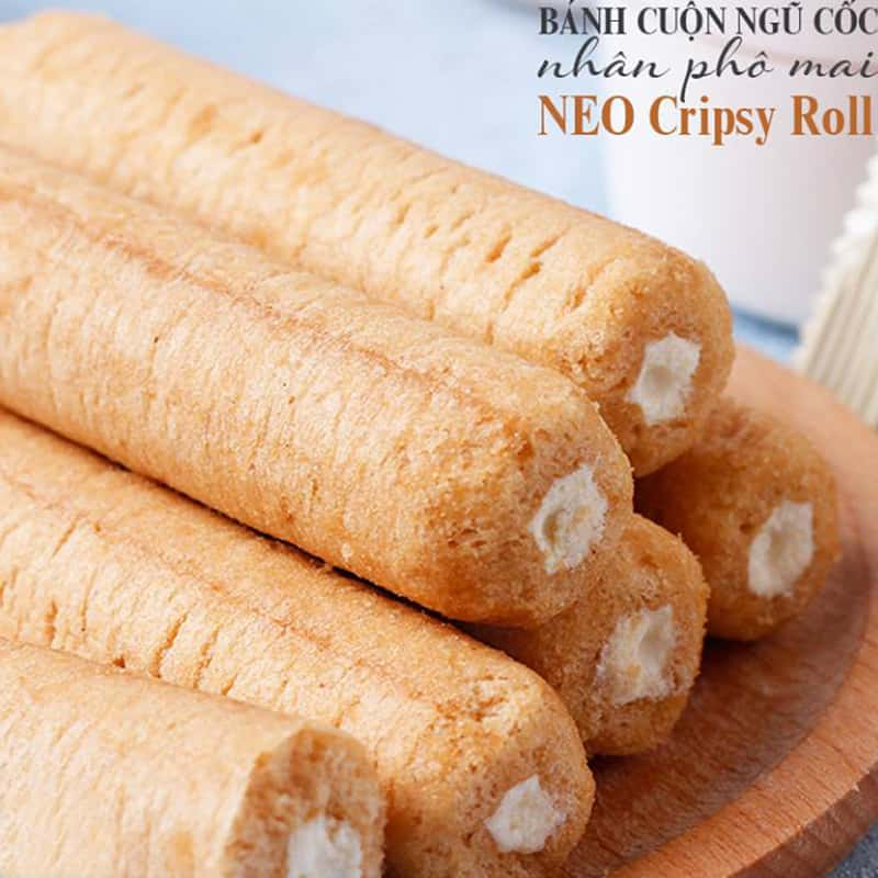 Bánh ngũ cốc cuộn kem phô mai Neo Cripsy Roll 80g Hàn Quốc