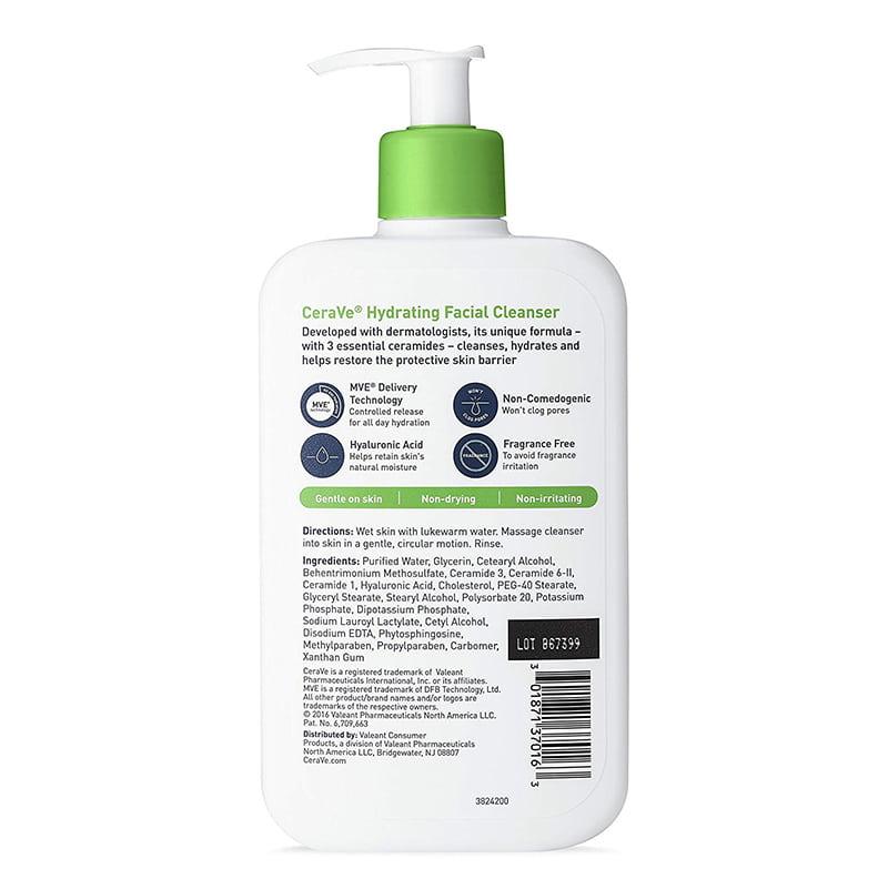 Sữa rửa mặt Cerave Foaming Facial Cleanser 355ml của Mỹ