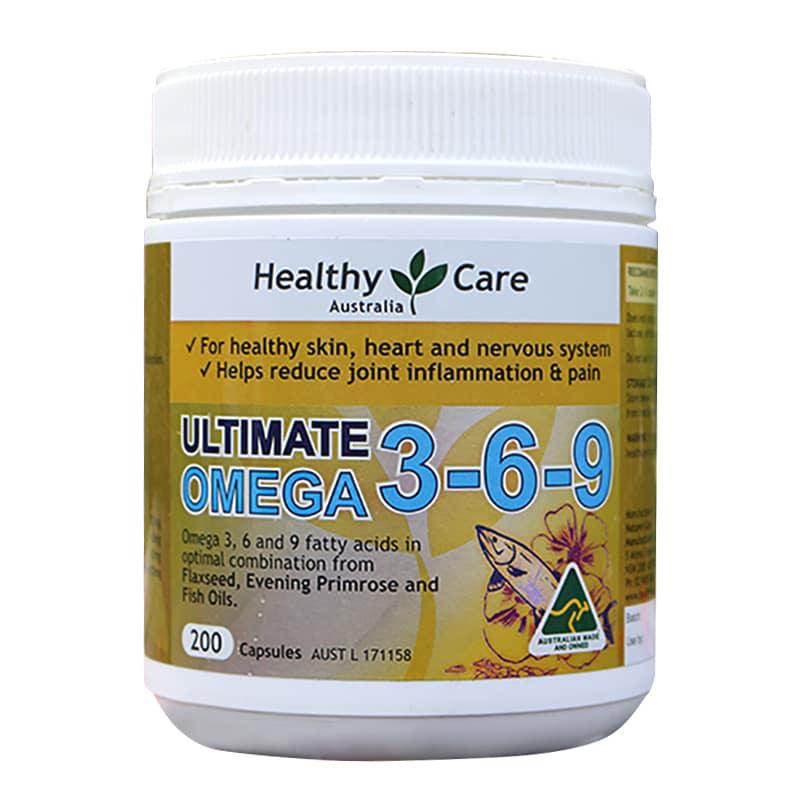 Omega 369 HealthyCare Ultimate Hộp 200 Viên chính hãng Của Úc