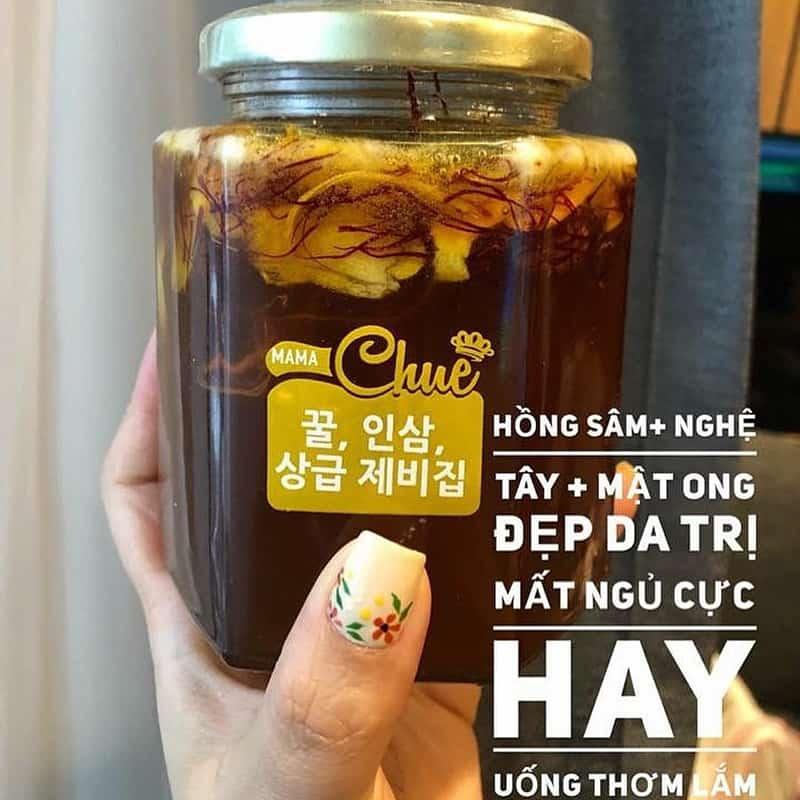 Sâm mật ong nghệ tây Saffron Mama Chuê Hàn Quốc hũ 500g