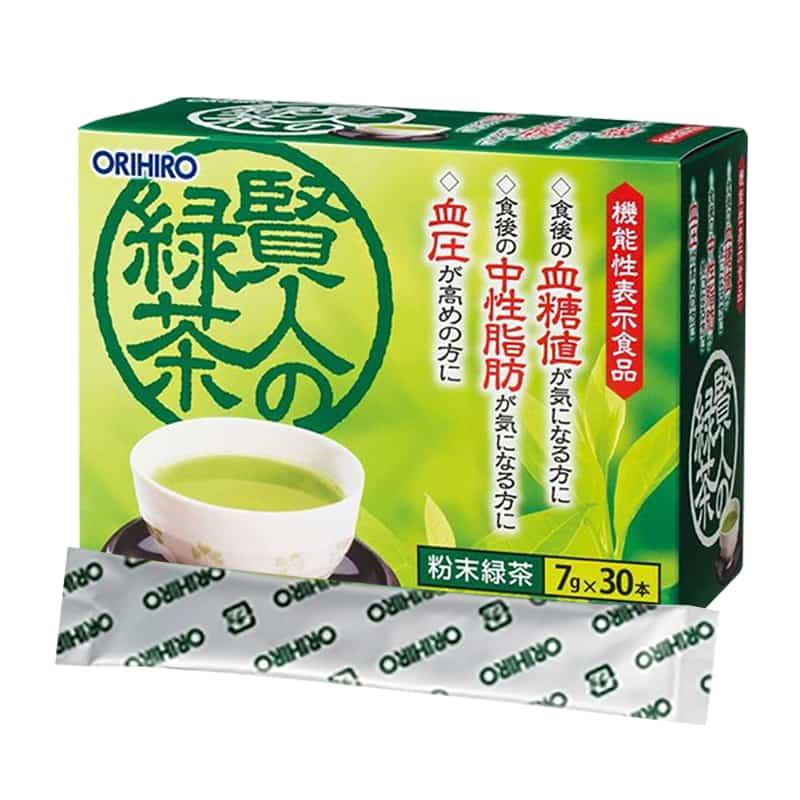 Trà xanh Orihiro Sage 30 gói của Nhật Bản, làm giảm mỡ máu