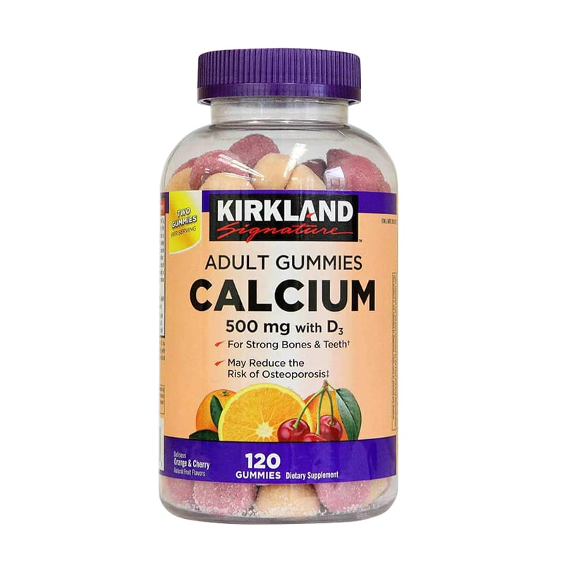 Kẹo bổ sung canxi Kirkland Calcium 500mg With D3 Adult 120v
