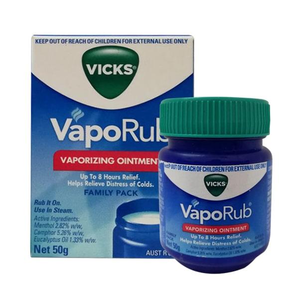 Dầu Bôi Ấm Ngực Giảm Ho Vicks VapoRub 50g