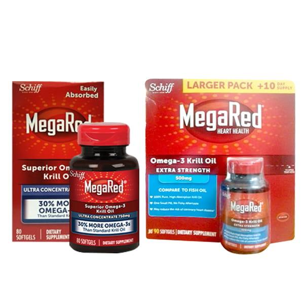 Thuốc hỗ trợ tim mạch Schiff MegaRed Omega-3 Krill Oil 300mg 90 viên
