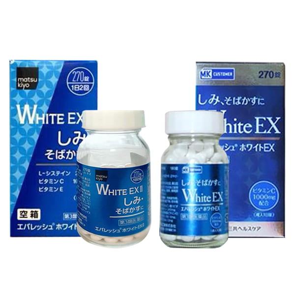 Viên uống trắng da trị nám White EX 270 viên 1000mg của Nhật