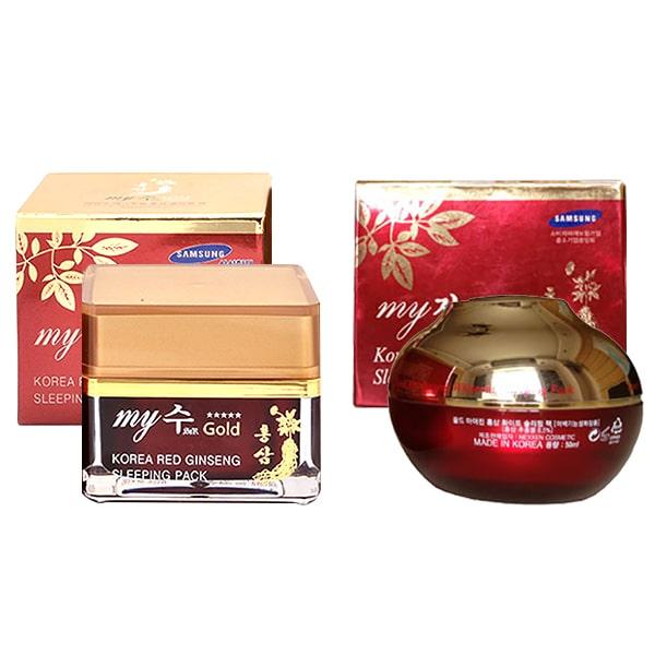 Kem Sâm Dưỡng Trắng Da Ban Đêm My Gold Korea Red Ginseng Sleeping Pack