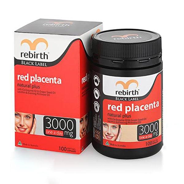 Viên uống nhau thai cừu đỏ rebirth red placenta 3000mg