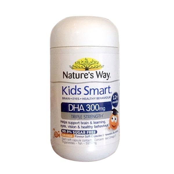 Viên nhai Natures Way Kids Smart DHA 300mg Triple Strength