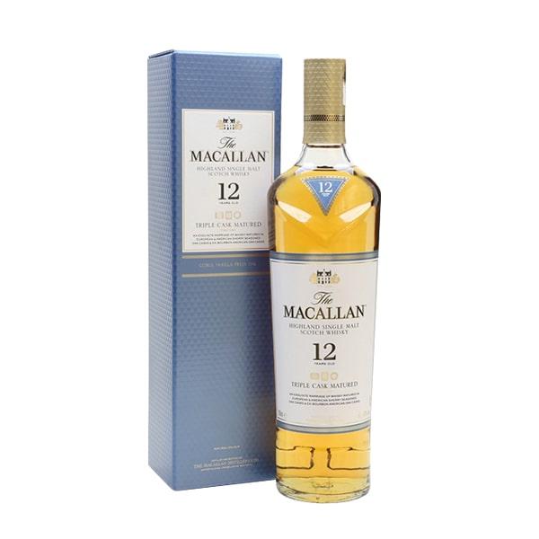 Rượu Macallan 12 Triple Cask, Macallan 12 năm của Scotland 700ml