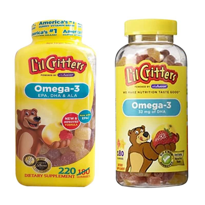 Omega-3 DHA Gummy Fish Kẹo Dẻo Bổ Sung Vitamin Cho Bé