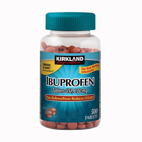 Viên giảm đau hạ sốt Kirkland Ibuprofen 200mg 500 viên Mỹ