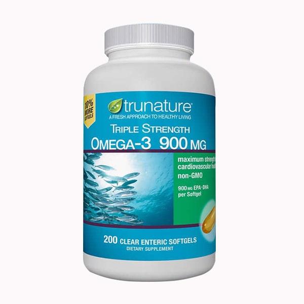 Dầu cá Omega 3 900mg Trunature Triple Strength 200 viên của Mỹ